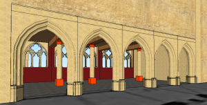 Paris, Franciscan convent, reconstructed chapter house, view from entrance (M.T. Davis)