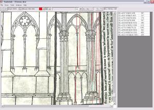 Digital analysis of a Villard drawing
